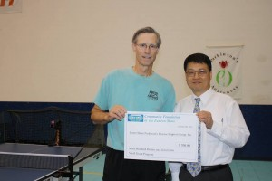 Andy Kim with Art Cooley at Parkinson's Association Table Tennis 2014